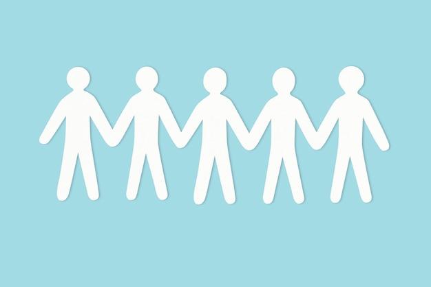 Szczęśliwy element rękodzieła papierowego społeczności