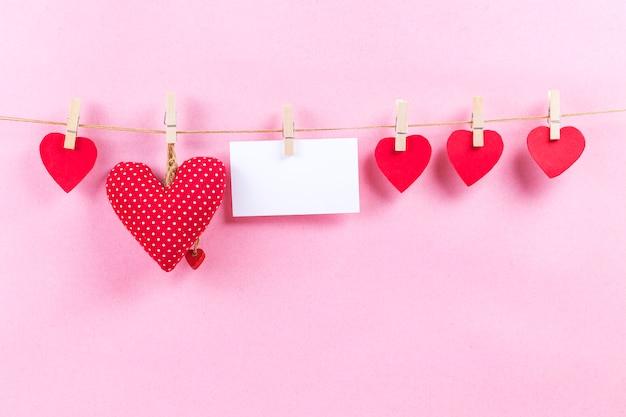 Szczęśliwy kochankowie dnia karty mockup, kopii przestrzeń