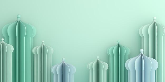 Szczęśliwy muharram islamski nowy rok tło z meczet cięcia papieru, miejsce