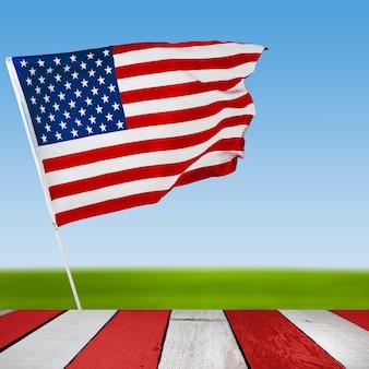Szczęśliwy transparent święto pracy, amerykańskie tło patriotyczne