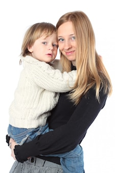 Szczęśliwych potomstw macierzysty mienie jej dziecko