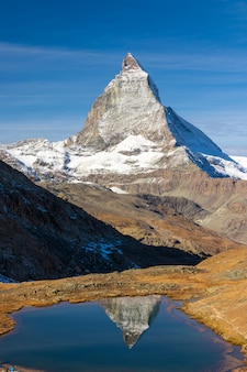 Szczyt matterhorn w zermatt