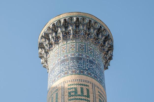 Szczyt wieży dość starożytne budowle azjatyckie architektura średniowiecznej azji środkowej