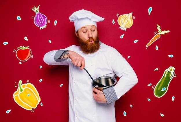 Szef kuchni jest zaskoczony nowym kreatywnym przepisem