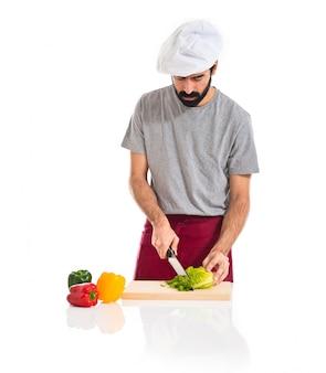 Szef kuchni szew sałaty