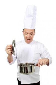Szef kuchni zszokowany