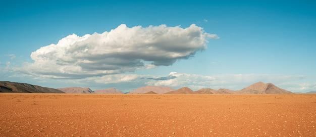 Szerokie ujęcie z pięknym widokiem na pustynię namib w afryce