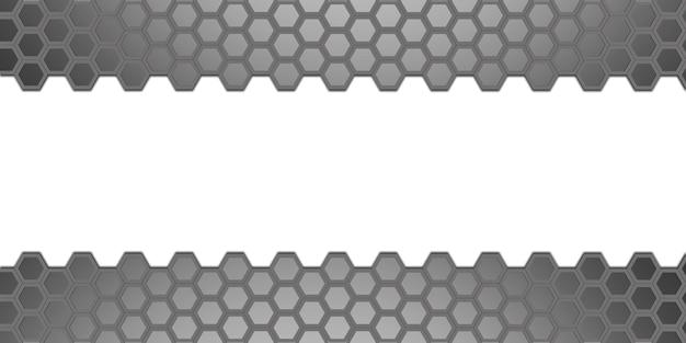 Sześciokątna abstrakcyjna ściana o strukturze plastra miodu prosta mocna technologia tło ilustracja 3d