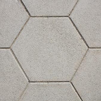 Sześciokątna podłogowa tekstura lub tło