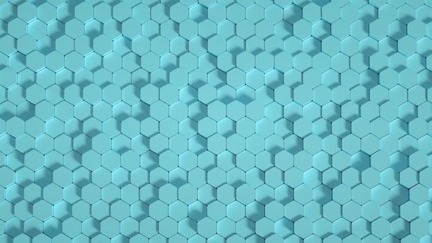 Sześciokątne tło geometrii. ilustracja 3d, renderowanie 3d.