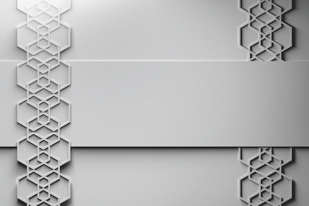 Sześciokątny układ papieru w stylu tempate
