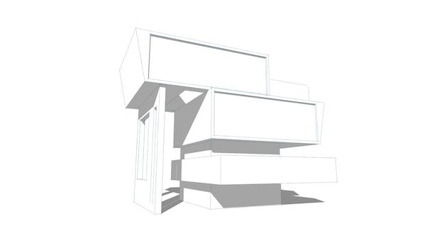 Szkic abstrakcyjny, architektoniczny, konstrukcyjny, szkieletowy