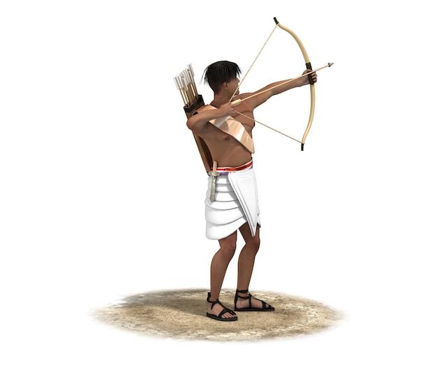 Szkic ilustracji postaci wojownika
