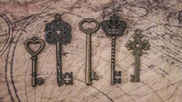 Szkieletowe klucze na mapie