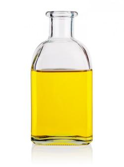 Szklana butelka z olejem