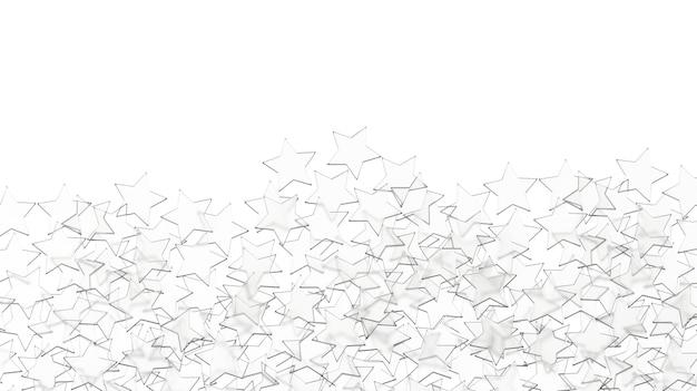 Szklane gwiazdy wzór na białym tle.
