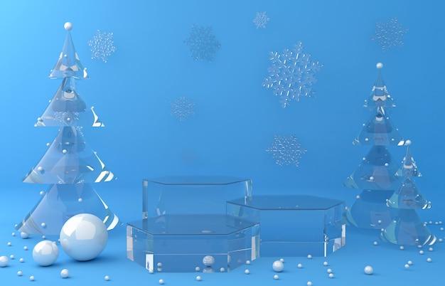Szklane tło wyświetlacza do prezentacji produktu
