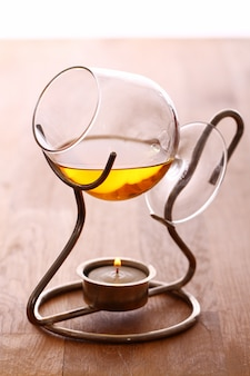 Szklanka gorącego koniaku