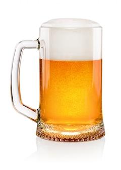 Szklanka piwa z pianką