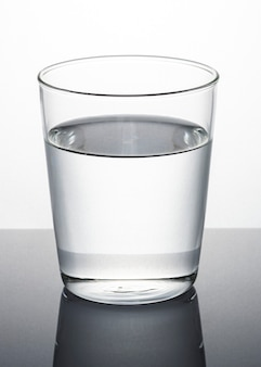 Szklanka wody makro strzał