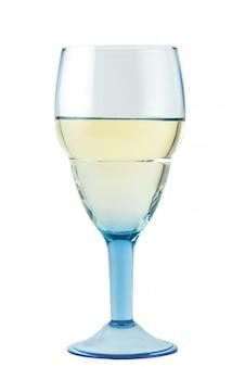 Szkło z białym winem na bielu