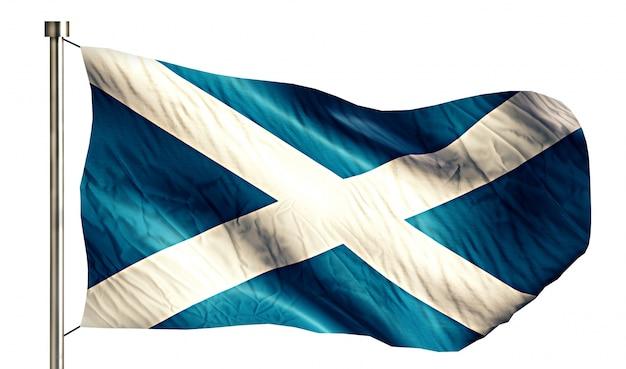 Szkocja flaga narodowa pojedyncze 3d białe tło