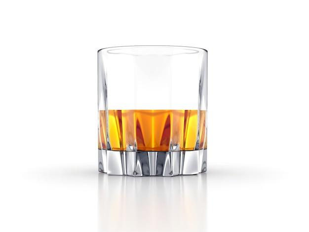 Szkocka whisky bourbon kreatywnych na białym tle