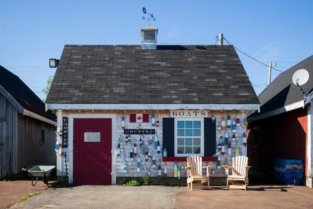 Szopy wędkarskie w north rustico, wyspa księcia edwarda, kanada
