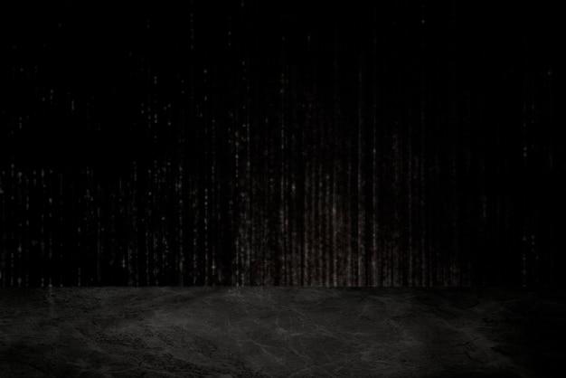 Szorstka ciemnoszara ściana cementowa z tłem marmurowej podłogi