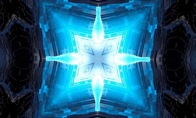 Szósty zmysł. psychiczny średni kalejdoskop. streszczenie tło kalejdoskopowe formy, trans i koncepcja medytacji. jasne farby akrylowe tworzące okrągły wzór mandali o różnorodnych kształtach.