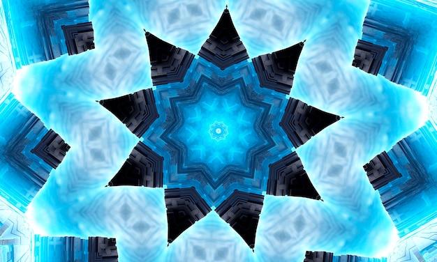 Szósty zmysł. psychiczny średni kalejdoskop. streszczenie tło kalejdoskopowe formy, trans i koncepcja medytacji. jasne farby akrylowe tworzące okrągły wzór mandali o różnych kształtach