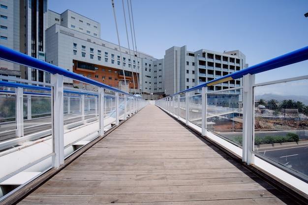 Szpital widziany z zewnątrz