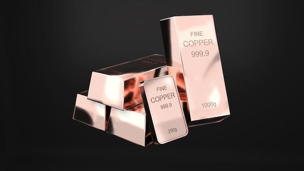 Sztabki miedzi czysta 1000 gramów copperbusiness inwestycja i bogactwo koncepcji bogactwa miedzi