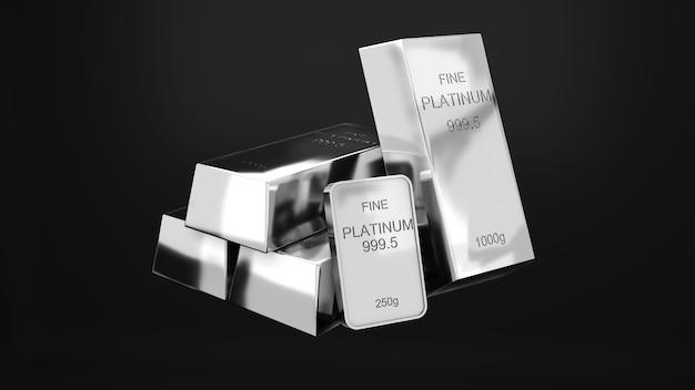 Sztabki platyny 1000 gramów czystej platynykoncepcja inwestycji i bogactwa w biznesbogactwo platyny