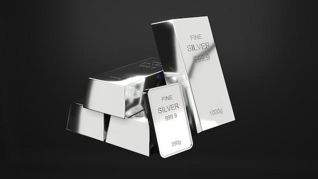 Sztabki srebra 1000 gramów czystego silverbusiness inwestycja i bogactwo koncepcji bogactwa srebra