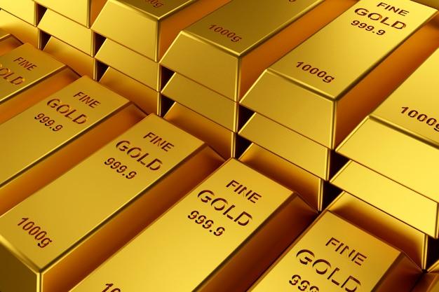 Sztabki złota na baner strony internetowej.