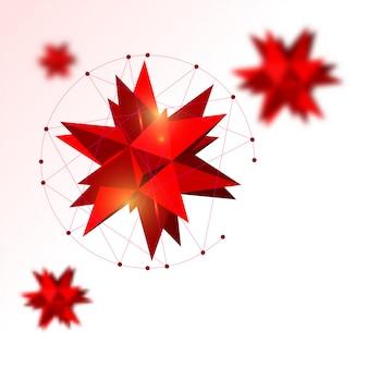Sztandar z różową abstrakcją kosmiczną eksplozją na lekkim tle.