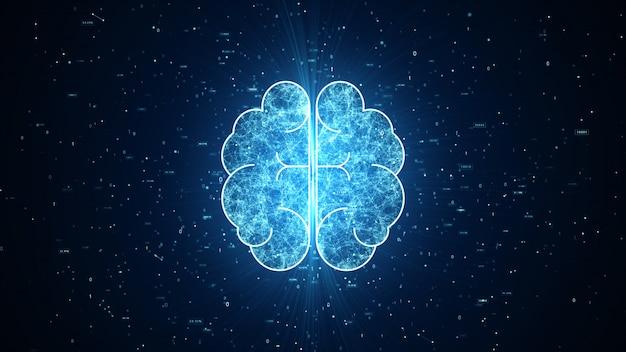 Sztuczna inteligencja animacja mózgu