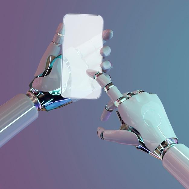 Sztuczna inteligencja smartfonów, futurystyczna technologia sieci komunikacyjnych