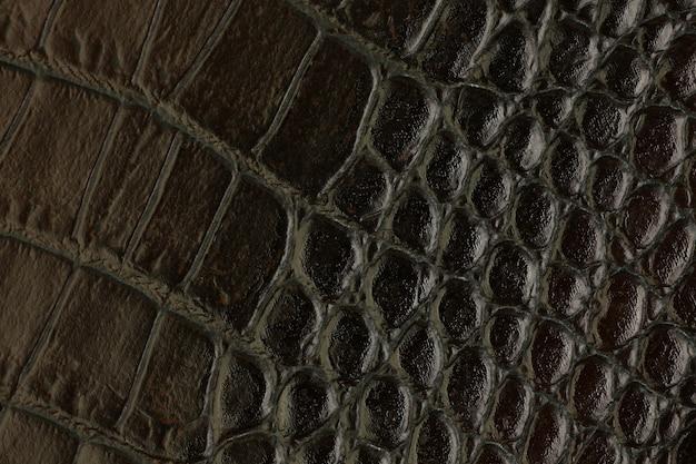 Sztuczna teksturowana skóra syntetyczna tło zbliżenie makro