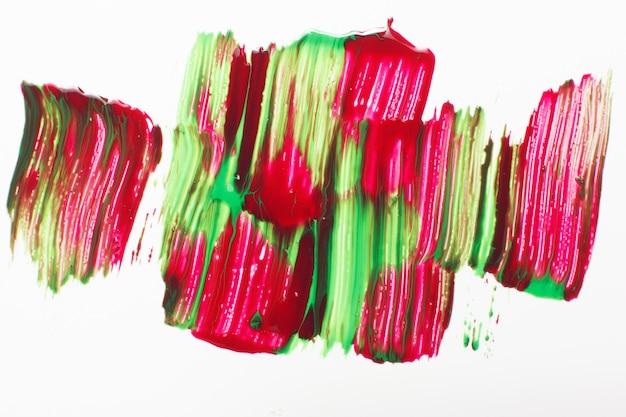 Sztuka abstrakcyjna kreatywne malarstwo rozmazana farba jasne kolory białe tło