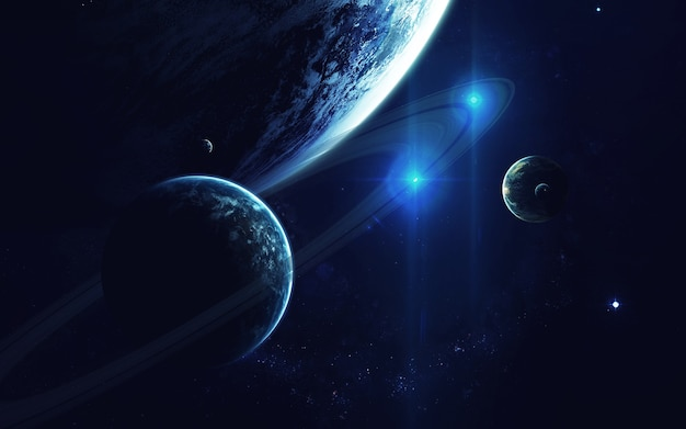Sztuka kosmiczna, tapeta science fiction