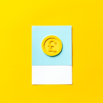 Sztuka rzemiosła papierowego brytyjskiej monety funtowej