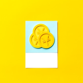 Sztuka rzemiosła papieru monet japońskiego jena