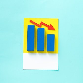 Sztuka rzemiosła papieru wykresu biznesowego