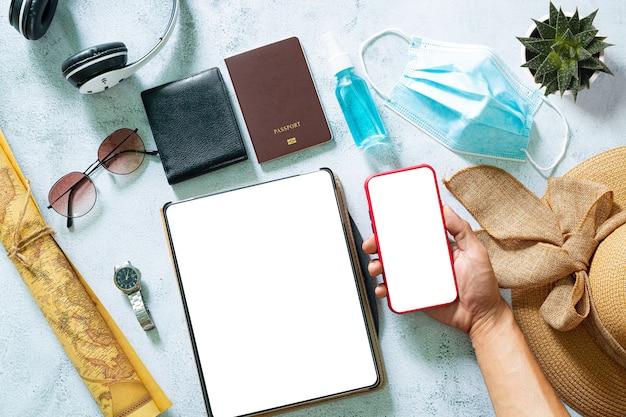 Szukaj według obrazu ochrona covid19 podczas podróży akcesoria podróżne kostiumy paszporty