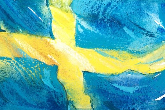 Szwecja, szwedzka flaga. ręcznie rysowane akwarela ilustracja.