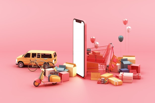 Szybka dostawa skutera, furgonetki i samolotu na telefon komórkowy