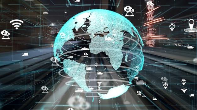 Szybki ruch transportowy na drogach wraz z modernizacją grafiki sieci globalnej