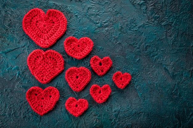 Szydełkowe serca valentine